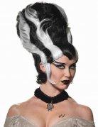 Perruque femme monstre noire et blanche