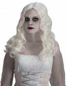 Perruque de fantôme aux cheveux longs blancs Halloween