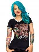 Vegan Girlie Shirt - Just Zombies eat Flesh