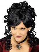 Perruque baroque noire bouclée femme