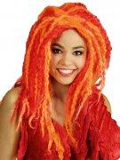 Perruque Dreadlocks rouge et orange