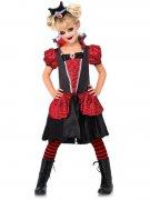 Gothic Vampiress Halloween Children Costume red-black