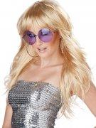 Popstar Model Promi Longhair Wig with Fringe blond