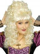 Perruque baroque bouclée blonde femme