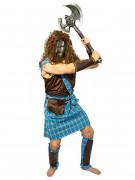 Déguisement homme guerrier écossais bleu-marron DE