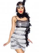 20s Charleston Dress Ladies Costume silver-black