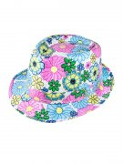 Party Hat with Floral Pattern blue-rose-white