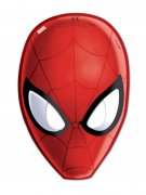Lot de 6 masques Spiderman rouge 15,5x23cm DE
