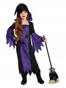 Déguisement sorcière noir-violet enfant