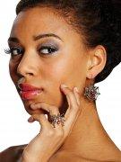 Lot 3 bijoux araignées Halloween femme argent-rouge