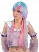 Extra Long Manga Cosplay Wig with Fringe light pink-turquoise