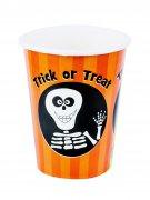 8 Gobelets en carton Trick or Treat 230 ml