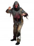Zombie-Skeleton Halloween Costume grey-green