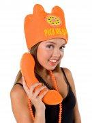 Chapeau téléphone orange