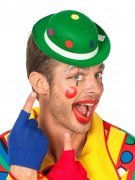 Chapeau clown à pois vert adulte
