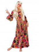 Déguisement hippie des années 60 multicolore femme