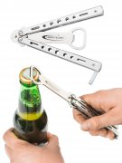 Décapsuleur papillon argent 13 cm Headrush Beer bong®