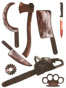 Stickers muraux armes ensanglantées 75 x 70 cm