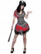Déguisement officier police zombie femme Halloween