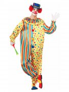 Déguisement homme clown multicolore DE