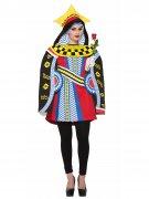 Déguisement carte reine multicolore femme