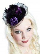 Mini chapeau gothique violet DE