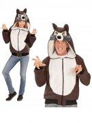 Veste à capuche loup