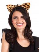 Serre-tête oreilles léopard femme
