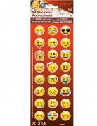 24 Stickers autocollants émoticônes Emoji ™