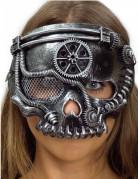 Masque squelette argenté adulte Steampunk