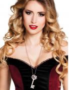 Collier clé gothique argent femme Steampunk