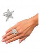 Bague étoile strass adulte