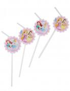 6 Pailles médaillon Princesses Disney Dreaming™