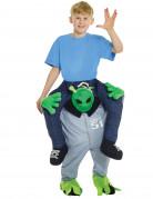 Déguisement homme à dos d'alien enfant