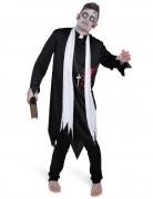 Déguisement prêtre zombifié homme