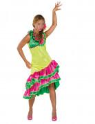 Déguisement danseuse rumba jaune femme