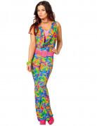 Déguisement disco marbré multicolore femme