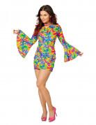 Déguisement robe disco marbré multicolore femme