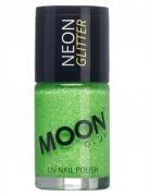 Vernis à ongles vert avec paillettes phosphorescent adulte Moonglow ©