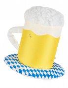 Chapeau chope de bière lumineux adulte