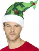 Bonnet houx vert adulte Noël