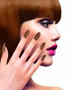 Faux ongles adhésifs cuivre pailletés adulte