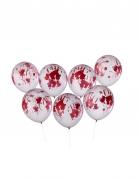 8 Ballons ensanglantés Halloween 30 cm