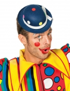 Chapeau clown à pois bleu adulte