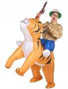 Déguisement tigre gonflable adulte