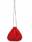 Sacoche velours rouge 27 cm