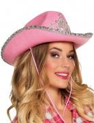 Chapeau princesse cowboy rose femme