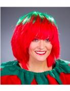 Perruque fraise verte et rouge femme