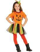 Déguisement citrouille en tutu coloré fille Halloween