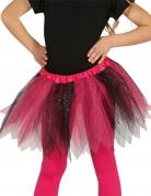 Tutu bicolore noir et rose à paillettes fille